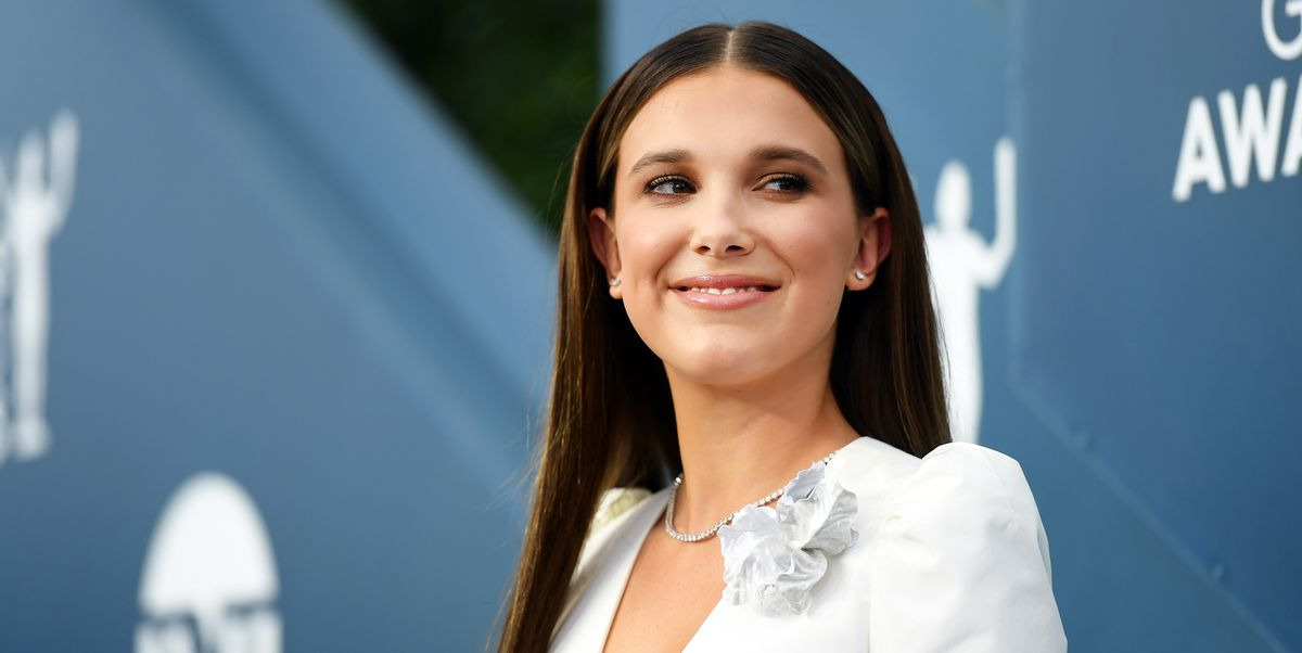 Millie Bobby Brown Attends SAG Awards in an '80s Wedding Dress