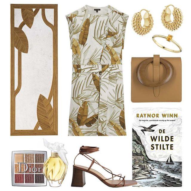 style guide miluska's maandag van 5 juli 2021in bruin tinten geinspireerd op de tropische print en interieur object