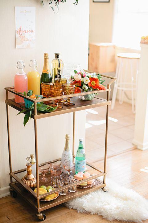 mimosa bar cart