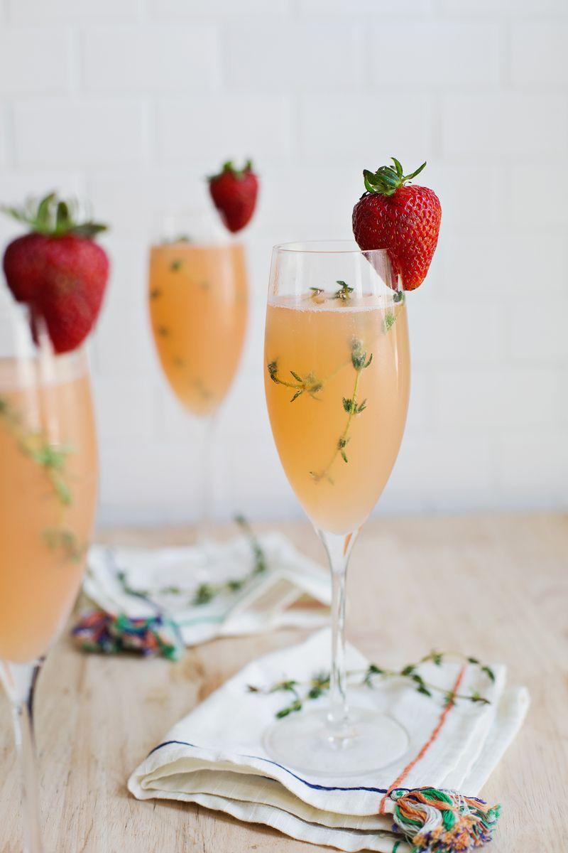 mimosa recipe strawberry grapefruit
