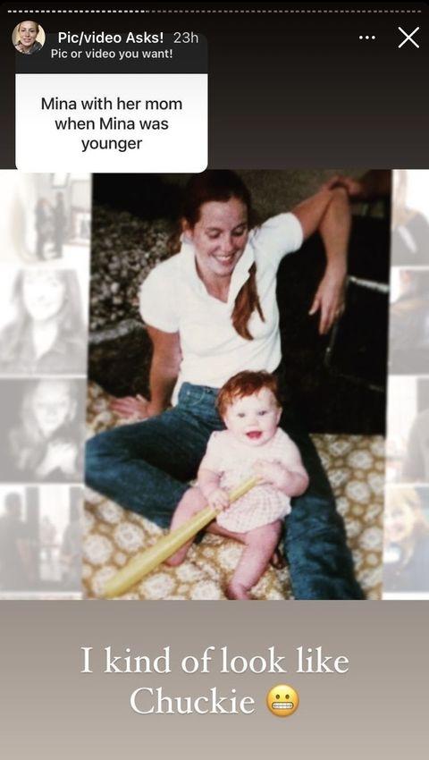 good bones star mina starsiak as a child with mom karen laine