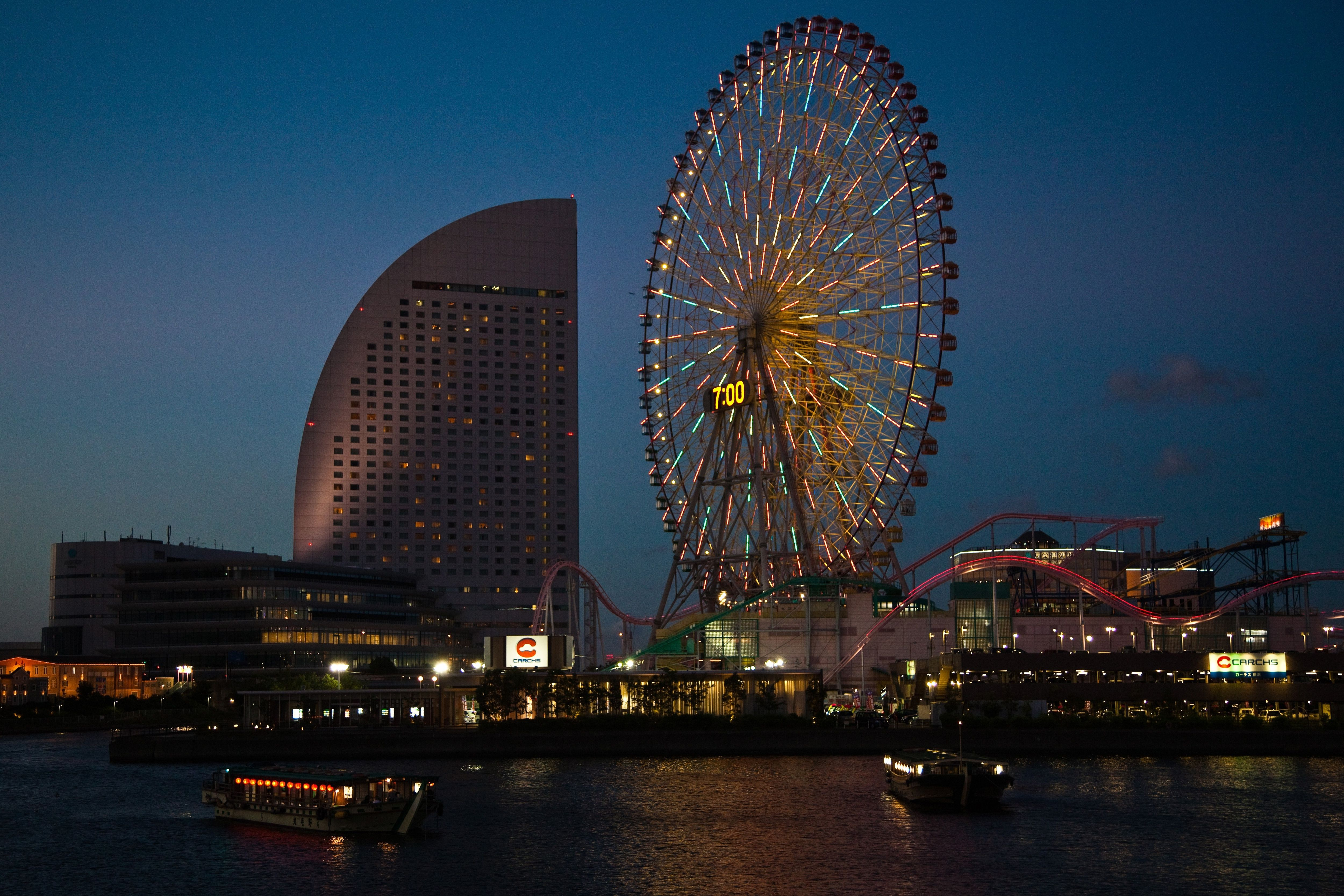 Minato Mirai, which means 'Harbor Future', is built on...