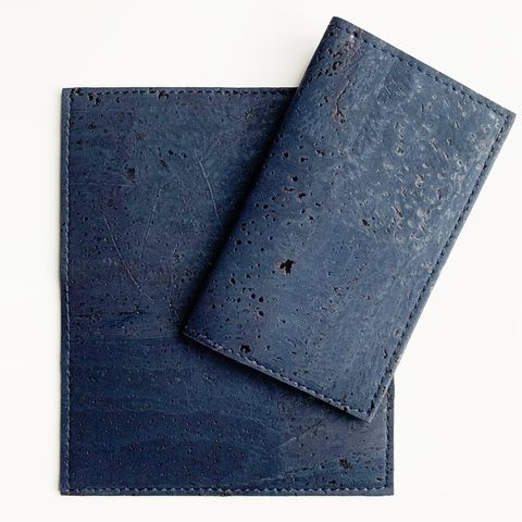 mind the cork vegan leather cardholder