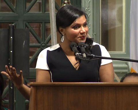 Mindy Kaling Gives the Best Graduation Speech Ever
