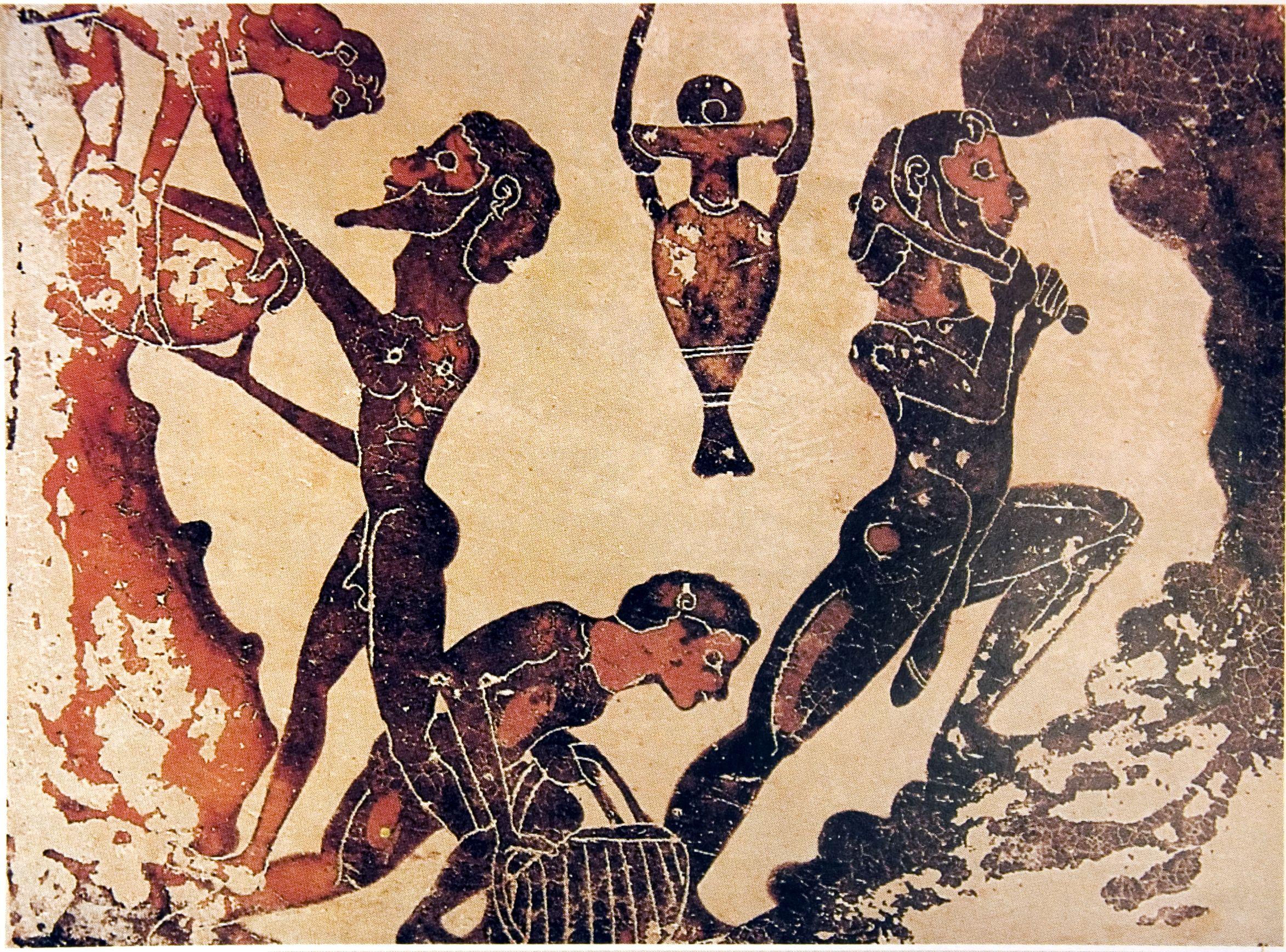 ancient greek miners