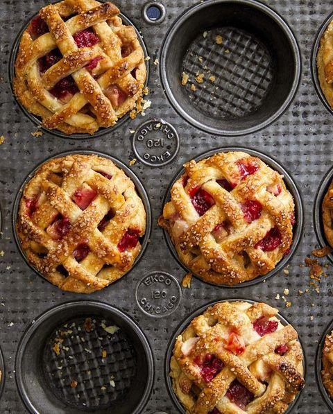 mini apple  raspberry pies