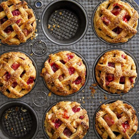 mini apple raspberry pies