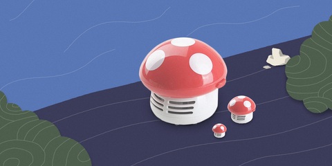 Mini aspirador Mushroom
