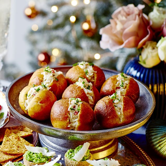 best canape recipes mini chilli and crab doughnuts