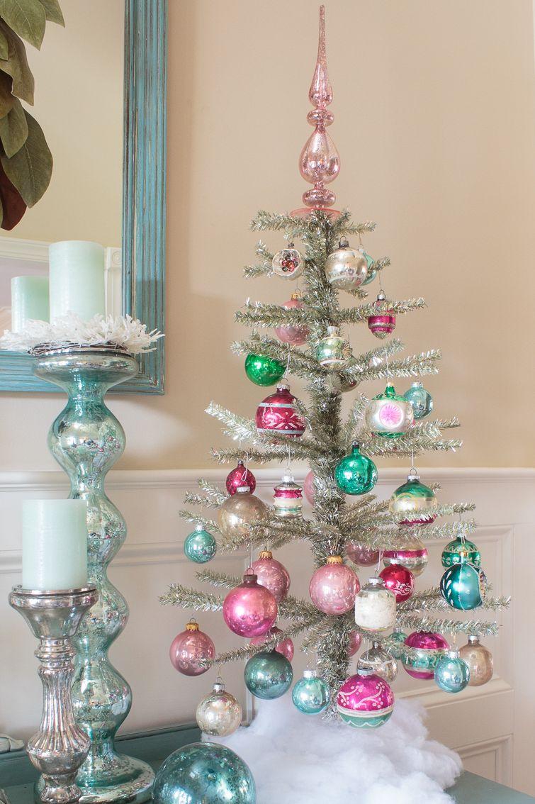 mini christmas trees colorful
