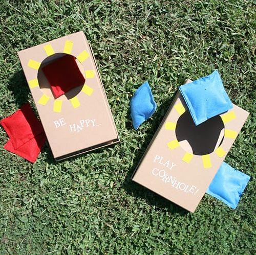 DIY cornhole ideas mini cornhole
