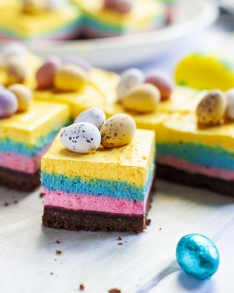 best easter recipes mini egg cheesecake squares