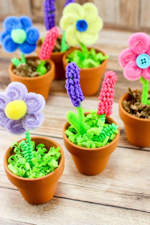 mini flower pot mothers day craft for kids