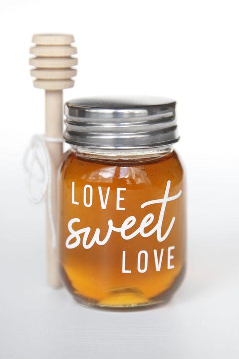 mini honey jars diy wedding favors