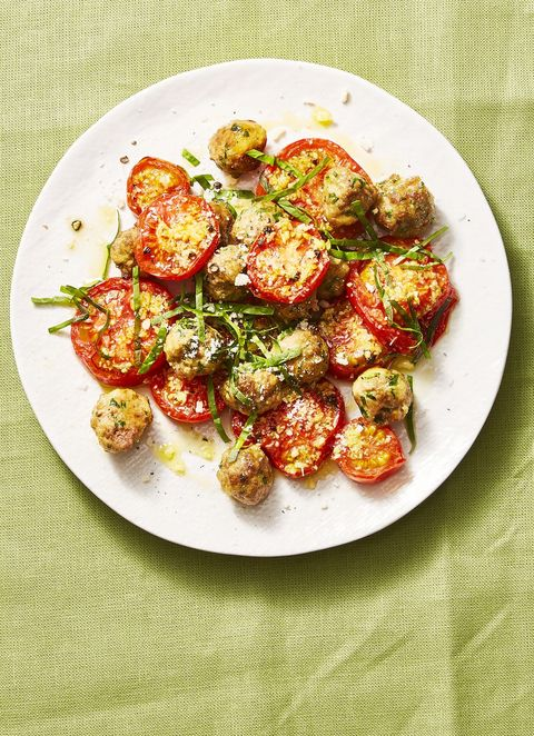 Mini Meatballs With Garlicky Tomatoes - Valentine's Day Dinner Ideas