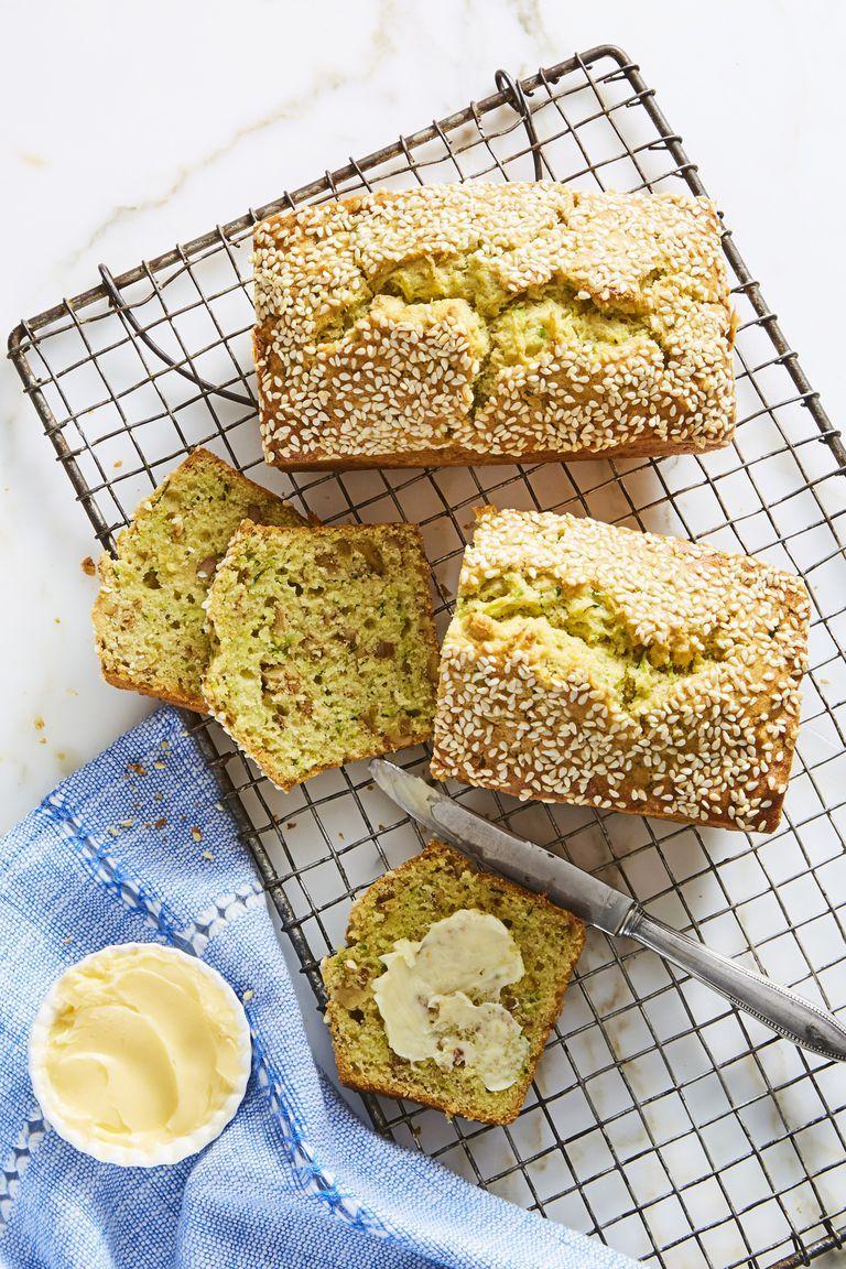 Mini Sesame Zucchini Loaves - Easy Healthy Breakfasts