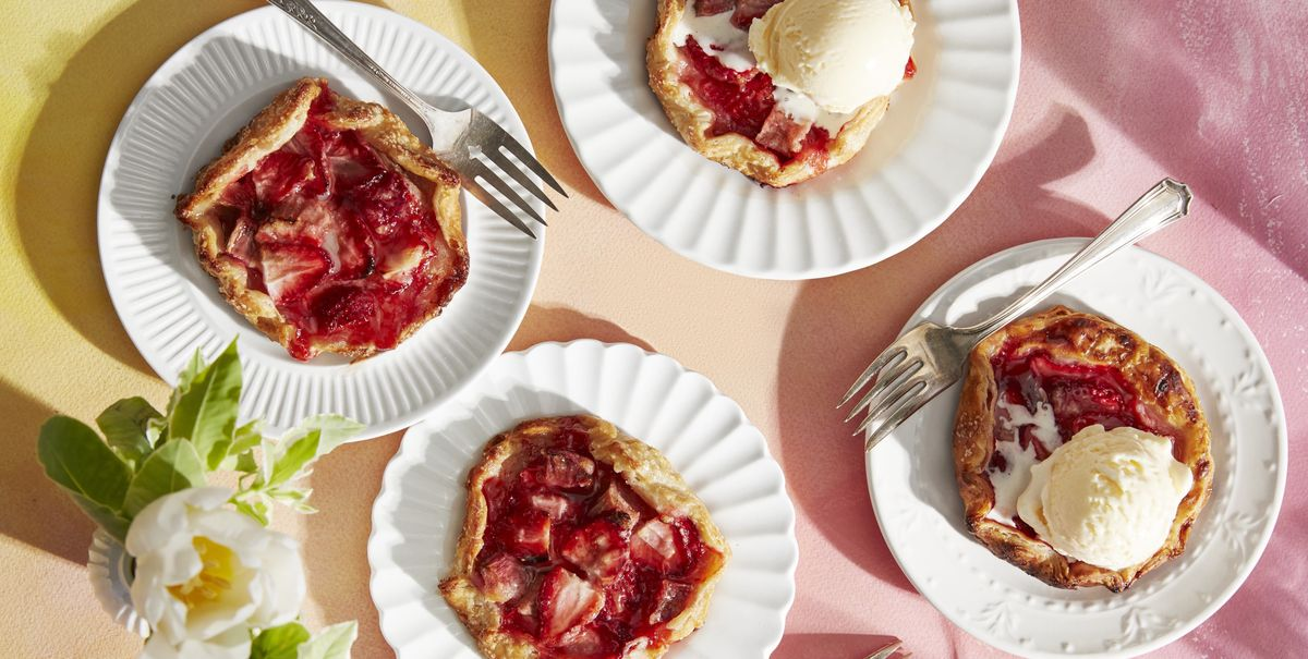 These Mini Strawberry-Rhubarb Galettes Are Perfect for a Sunny Spring Day