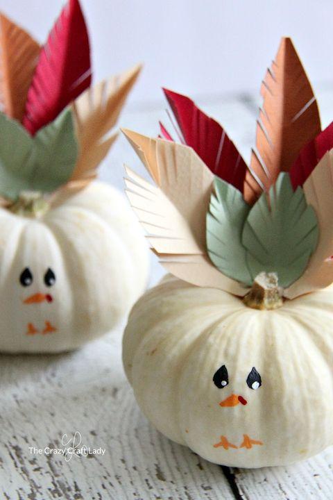 mini turkey pumpkins thanksgiving crafts for kids