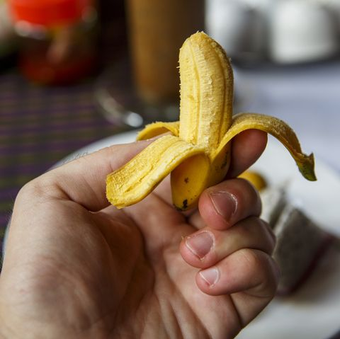 A miniature banana for sale at a market in Siem Reap, Cambodia.