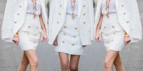 White, Clothing, Outerwear, Blazer, Fashion, Dress, Pink, Suit, Jacket, Formal wear,