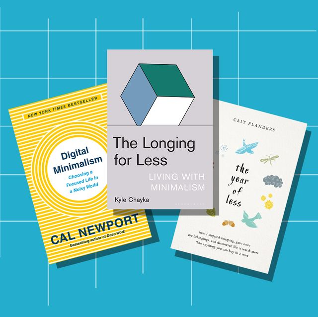 minimalism books digital minimalism, the longing for less, the year of less