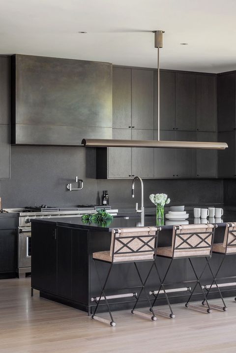 open black modern kitchen