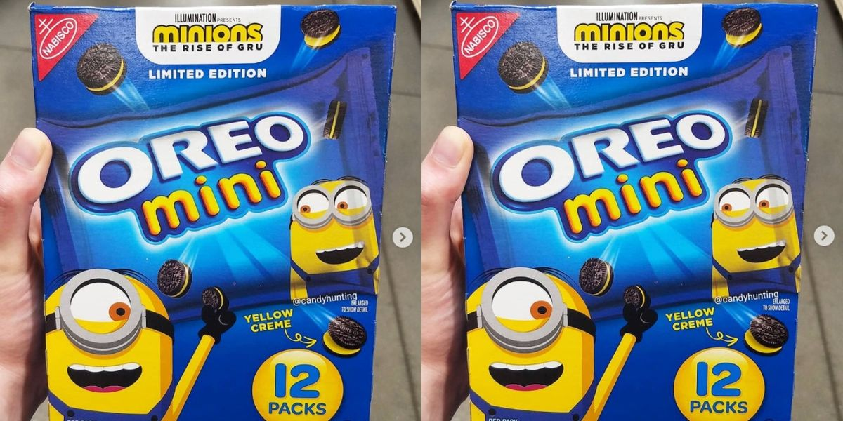 Minion Oreo Minis Filled With Yellow Creme Are Available In Stores Right Now
