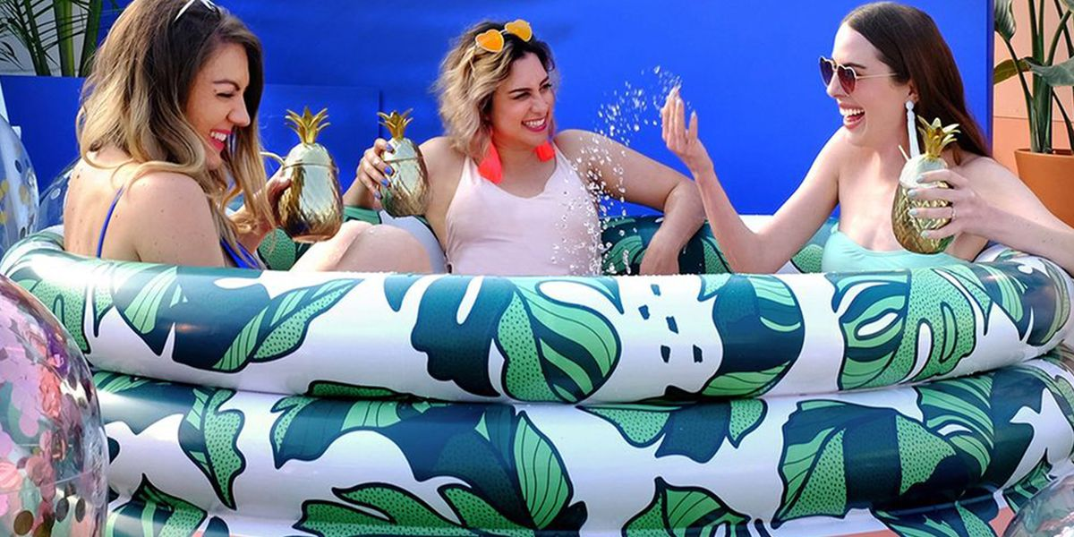 Target Is Selling Inflatable Pools That Can Fit 3 Adults, So You Can Cool off All Summer