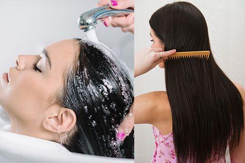 Hair, Hairstyle, Black hair, Beauty, Human, Forehead, Long hair, Hair coloring, Artificial hair integrations, Hair accessory,