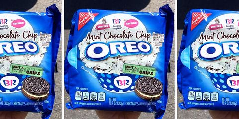 Oreo's Mint Chocolate Chip Collaboration With Baskin-Robbins Is Almost Here