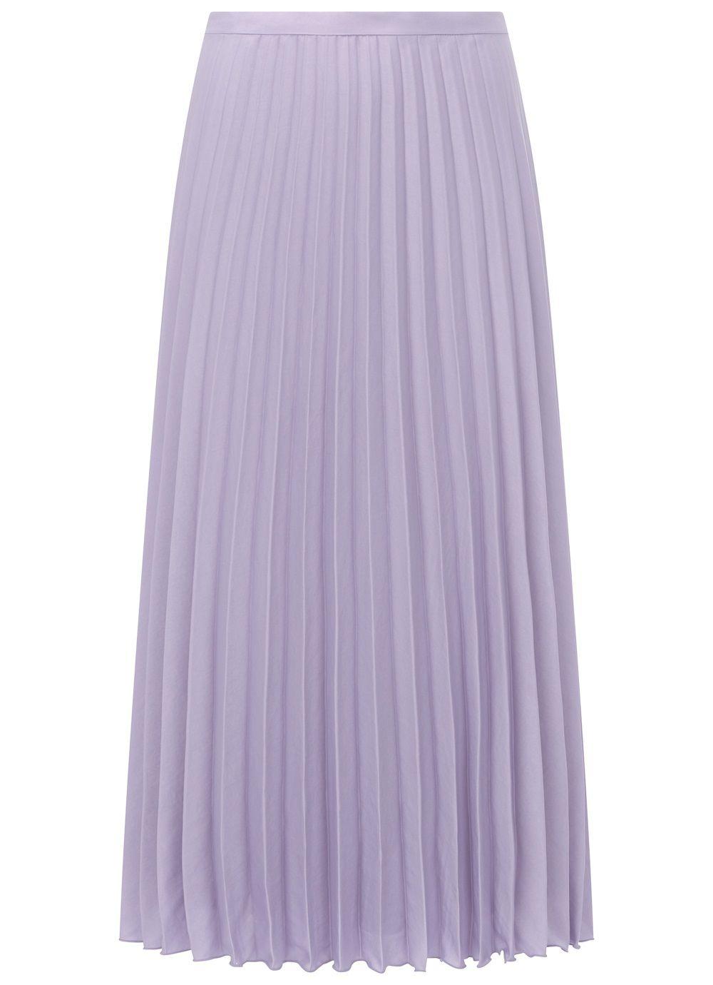lilac pleated skirt Mint Velvet