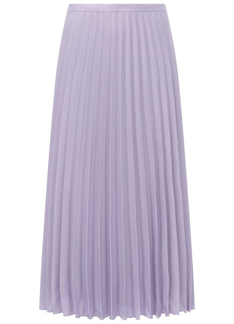 lilac pleated skirt Mint Velvet