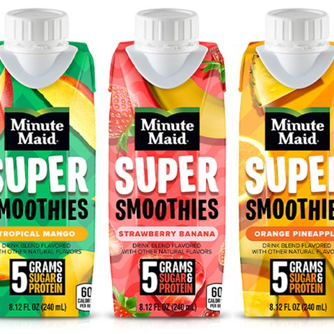 minute maid's new ready to drink fruit smoothies in three flavors