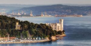 Miramare castle with Trieste in the background