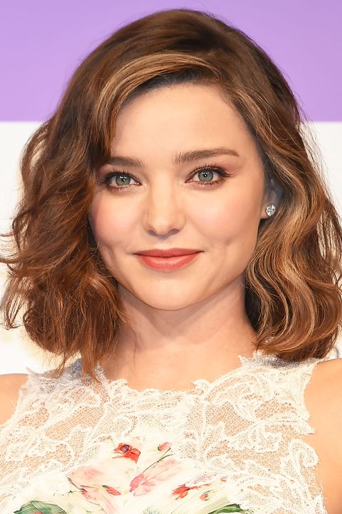 Miranda Kerr Hairstyle For Round Faces