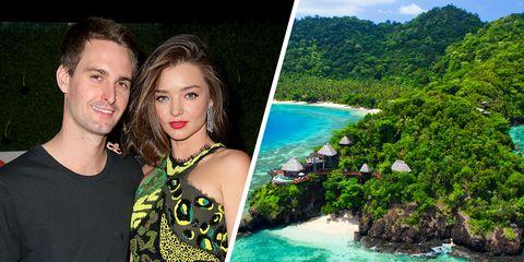 miranda kerr honeymoon laucala island