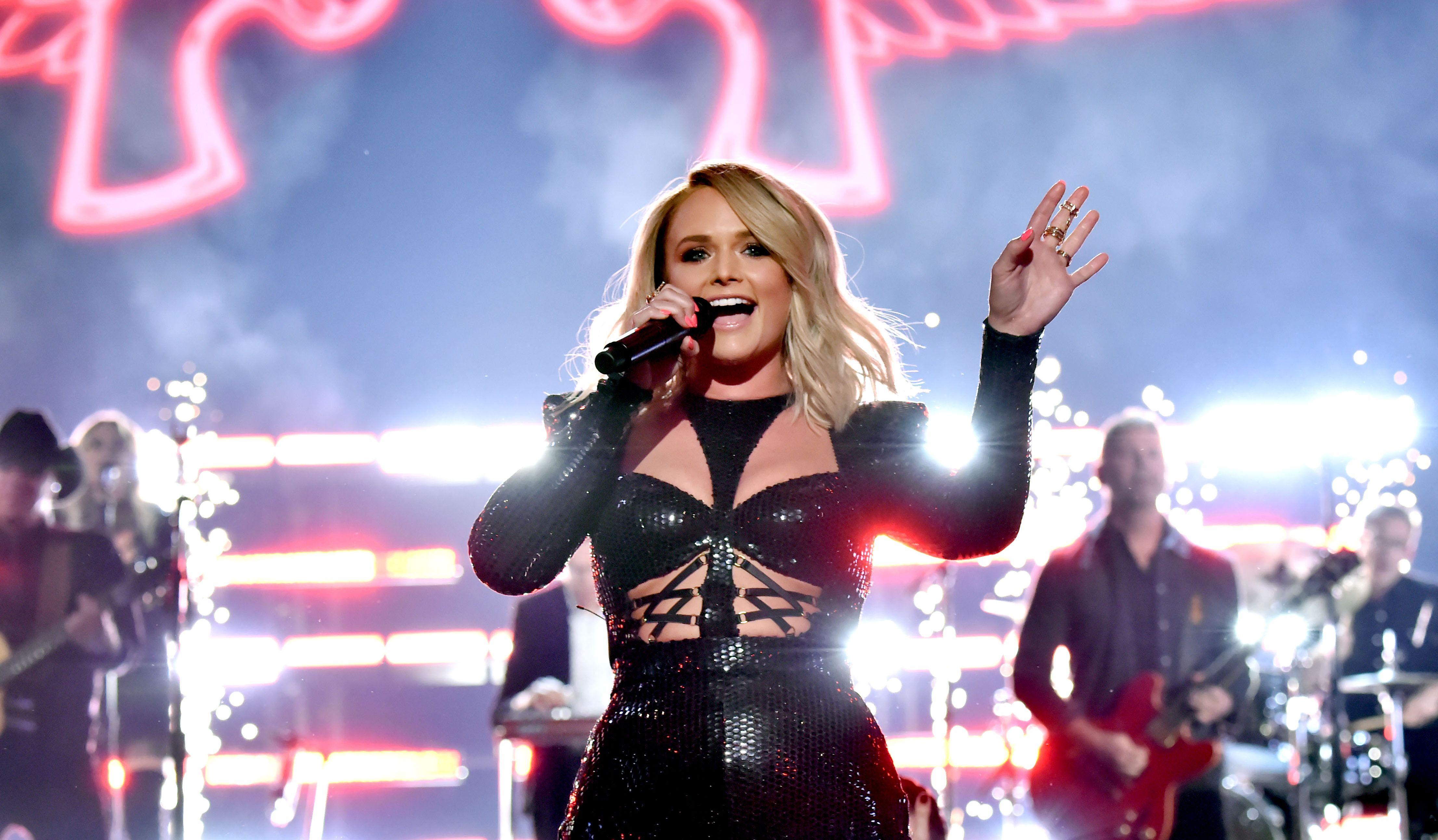Miranda showed off her sparkler during her rocking ACM Awards performance.