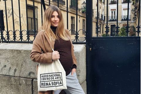 Miriam Giovanelli embarazada de su hija Renata