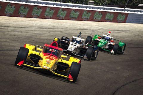 IndyCar iRacing at Michigan