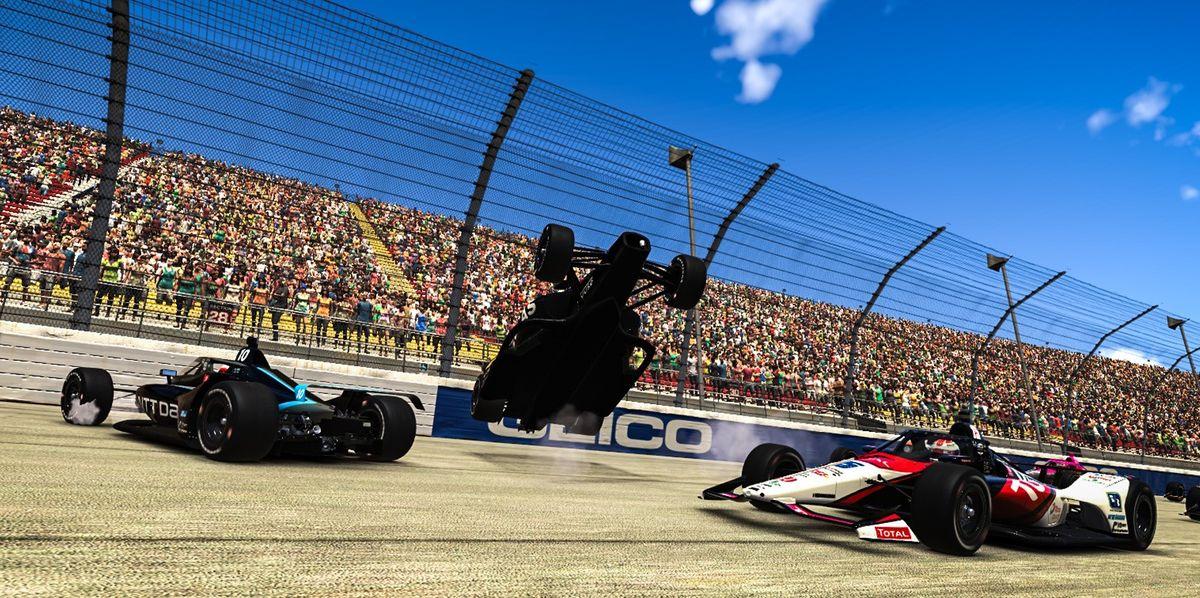 Gallery: Simon Pagenaud Wins IndyCar iRace at Virtual Michigan International Speedway