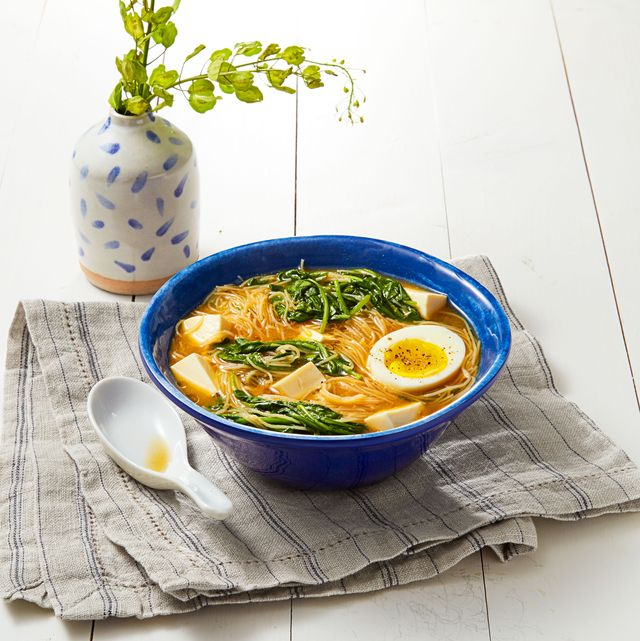 miso spinach noodles