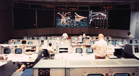 NASA Mission Operations Control Room of Manned Spacecraft Center