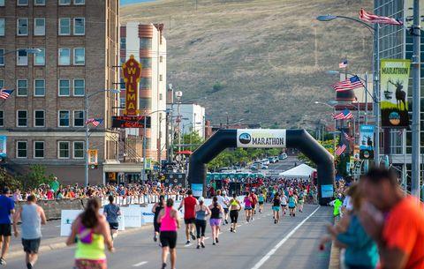 Marathon, Running, Long-distance running, Recreation, Half marathon, Crowd, Athletics, Pedestrian, Outdoor recreation, Athlete,