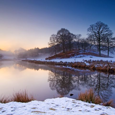 Misty sunrise at Elterwater