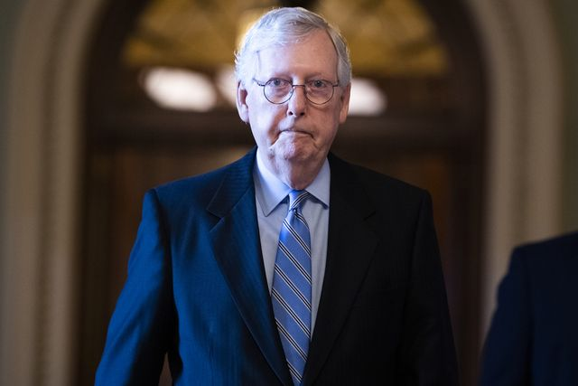 united states   june 10 senate minority leader mitch mcconnell, r ky, is seen during a vote in the capitol on thursday, june 10, 2021 photo by tom williamscq roll call