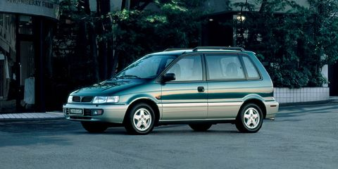 Land vehicle, Vehicle, Car, Mitsubishi, Automotive design, Minivan, Compact mpv, Family car, Hatchback, Mitsubishi chariot,