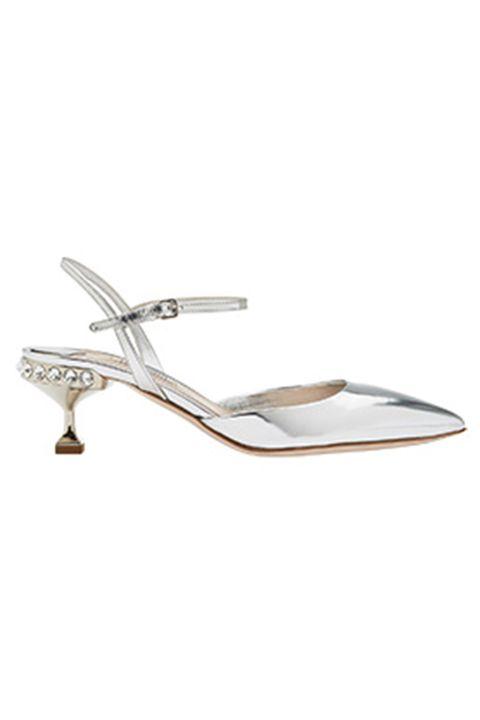 Footwear, White, Slingback, Sandal, Shoe, Beige, Slipper, Metal,