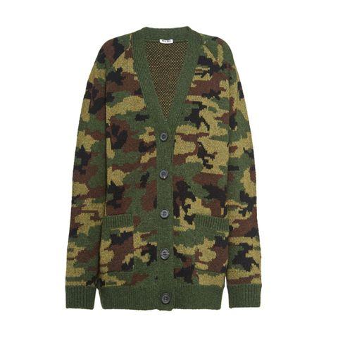 Camouflage vest miu miu
