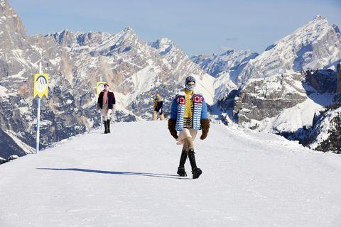 加入miu miu雪地俱樂部!miuccia prada打造最古靈精怪的2021秋冬雪山裝束