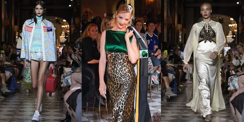76b8e76f19d2 Miu Miu s Cruise 2019 Show in Paris Featured Uma Thurman